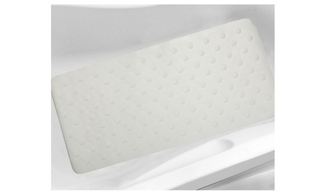 """Iris Jumbo 40"""" x 20"""" Natural Rubber Non-Slip Suction Cup Bath Tub Mat 3b1360a3-b9c4-4880-a385-0863d90565c7"""