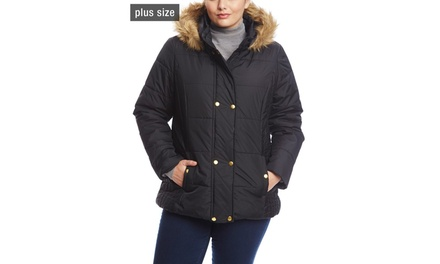 KRUSH Plus Size Double Snap Puffer
