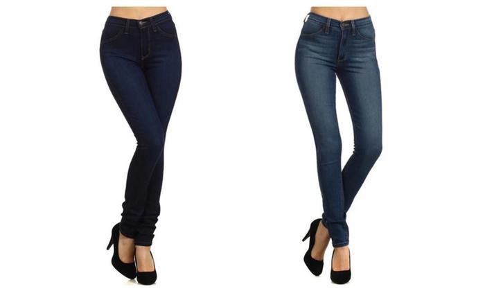 Classic High Waist Skinny Jeans – Dark