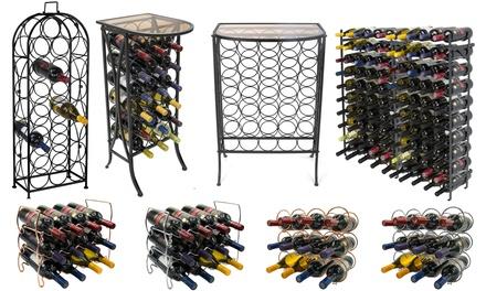 Metal Wine Racks - Floor Freestanding & Countertop Wine Holders Storage Display