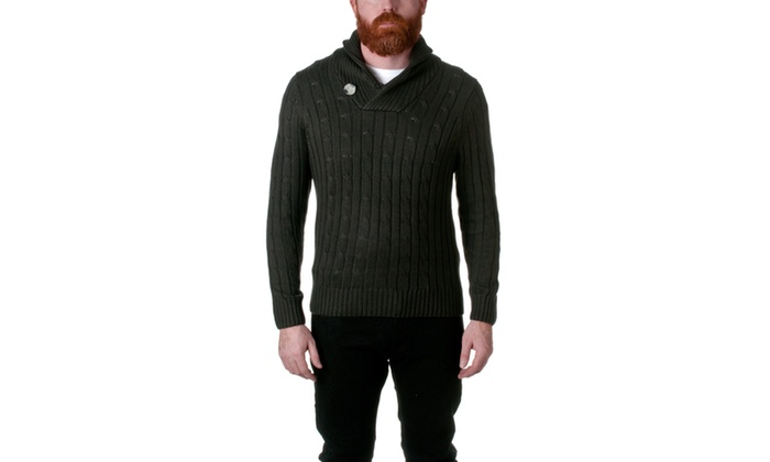 Republic Point Shawl Collar Knit Pullover Sweater AF2089