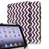 Insten 10-Inch Tablet Universal Leather Folio Case - Gray Purple Wave