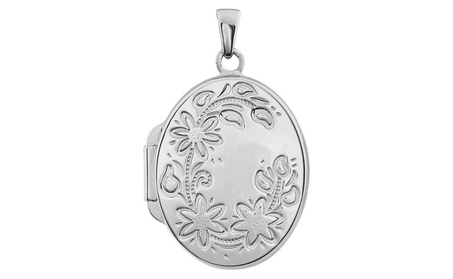 Sterling Silver Oval Locket 0a057545-8aa5-4a91-be67-95f5694dfe44