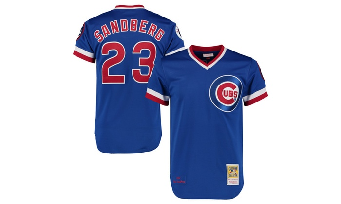 best service 77bfb 06150 Mens Chicago Cubs 1984 Ryne Sandberg Throwback Royal Jersey ...