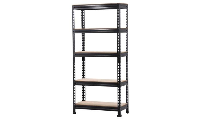 heavy duty shelf garage steel metal storage 5 level adjustable shelves - Heavy Duty Bookshelves