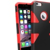 Insten Red Dynamic Slim Hybrid Hard Soft Cover Case For iPhone 6 Plus
