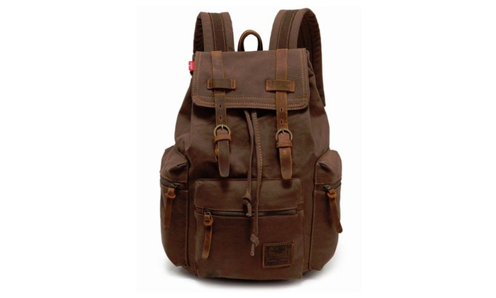 Retro Vintage Travel Canvas Backpack (Multiple Colors)