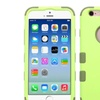 Insten Hybrid 3 Layer Hard Silicone Case for iPhone 6 6s Green
