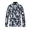 Men's Spring Casual Slim Fitted Printed Long Sleeve Blazer