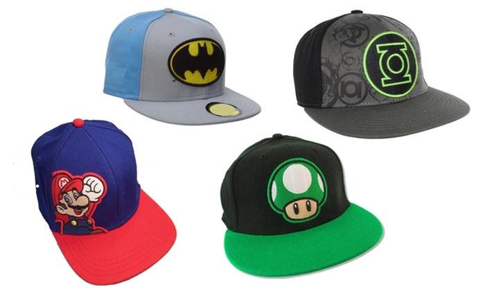 Comics Video Games Super Mario Green Lantern Batman Hat Cap