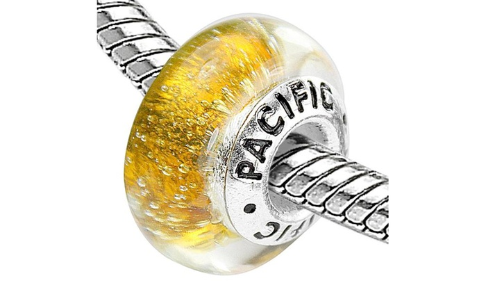 Groupon Goods: Sterling Silver 'Gold Digger' Murano Style Glass Bead
