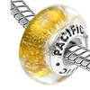 Sterling Silver 'Gold Digger' Murano Style Glass Bead