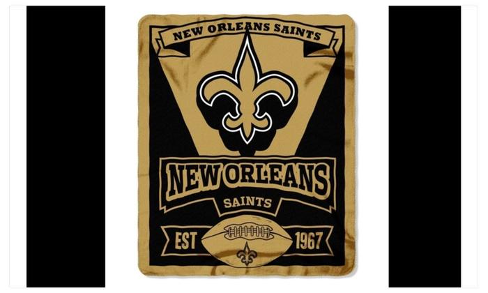 "New Orleans Saints 50"" X 60"" Fleece Blanket"