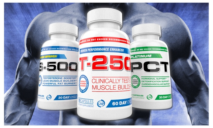 Buy It Now : Muscle Building Stack - S-500, T-250 and Platinum PCT, 30 Day Supply