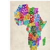 Michael Tompsett Africa Text Map Canvas Print