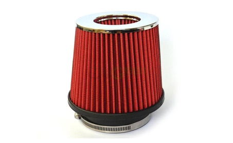 "3.5"" Inch Universal Cold Air Intake Cone Replacement Dry Filter Red 283e951b-ff60-47c7-b0df-f1c4e94984df"