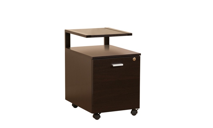 Groupon Goods: Vanti Dark Espresso Single Drawer Mobile File Cabinet