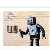 Banksy 'Robot' Canvas Rolled Art