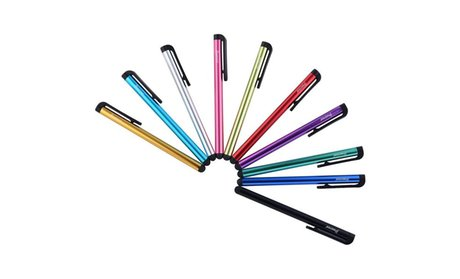 Insten 10-Piece Colorful Universal Touch Screen Stylus Pens