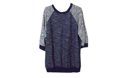 PLUS SIZE Boyfriend Style Pullover