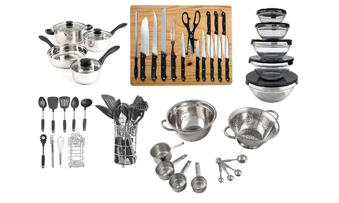 ... Stainless Steel Kitchen Gadget Set (52 Piece): Stainless Steel Kitchen  Gadget Set