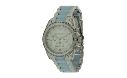 Michael kors blair two tone ladies watch mk6137 groupon for Michaels craft store watches