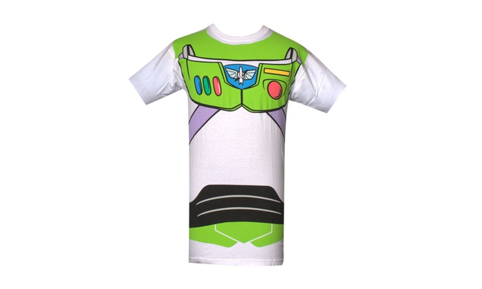 Toy Story Buzz Lightyear Full Print White T Shirt   M