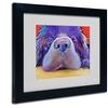 Pat Saunders-White 'Graysea' Matted Black Framed Art