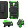 Insten Hybrid Silicone Case Holster For Alcatel Conquestand Green