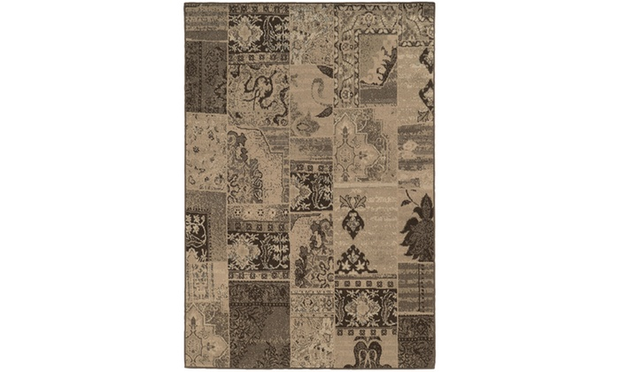 Monarch Alessa Brown Tan Distressed Area Rug Groupon