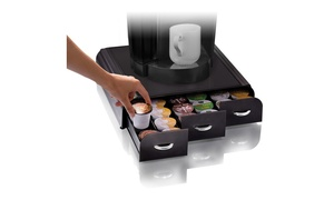 Mind Reader 36 Capacity Triple Drawer K-Cup, Coffee Pod Holder, Black
