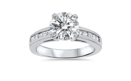 2 1/2CT Princess Round Diamond 14K White Gold Engagement Accent Ring 1f54ef66-fbc7-44c9-ba84-9d042e34fa66