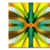 Amy Vangsgard Tree Light Symmetry Yellow Canvas Print