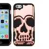 Insten Skullcap Hard Hybrid Silicone Case For iPhone 5C Rose Gold BLK