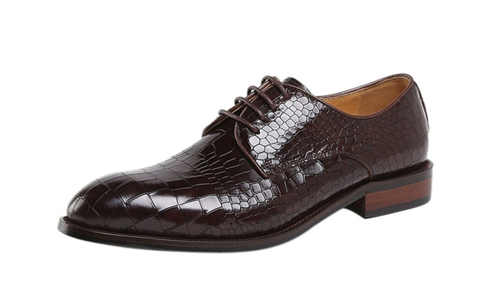 Men's Leather Embossed Oxford