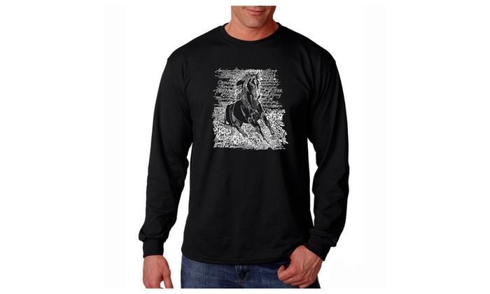 Men's Long Sleeve T-shirt - POPULAR HORSE BREEDS