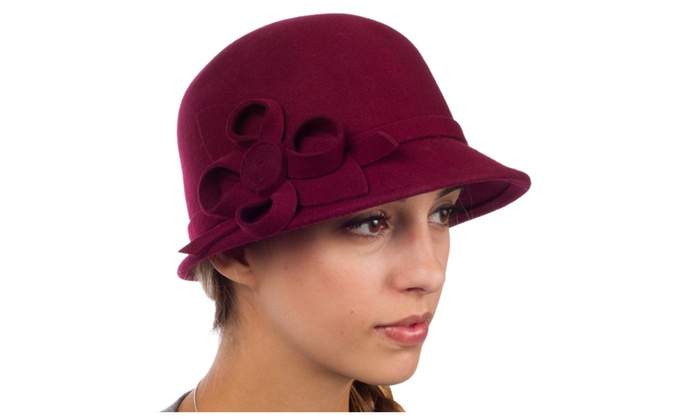 Sakkas Gia Womens Vintage Style 100% Wool Cloche Hat
