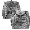 Zodaca Womens Leather Travel Shoulder Backpack School Rucksack Gray