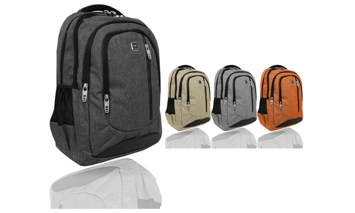 Eurosport Canvas Laptop Backpack - Fits Up to 17-Inch Laptop
