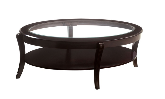 Oval glass top coffee table modern design oval frame coffee table