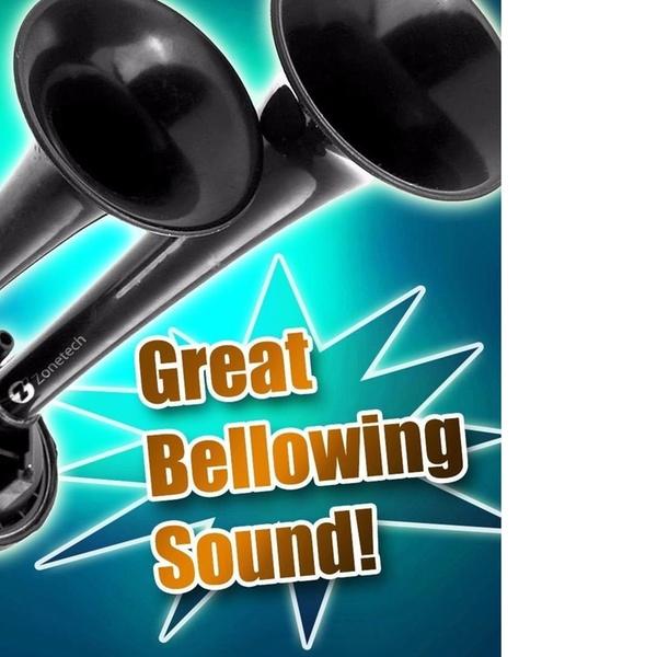 Zone Tech Air Horn Dual Trumpet Truck Loud 12v Train Car Kit Compressor 115DB
