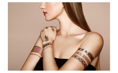 Henna metallic flash tattoos stickers 5f922d8a-1bcb-4acc-8891-33c2d225e92e