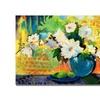 Sheila Golden Yellow Wall Canvas Print