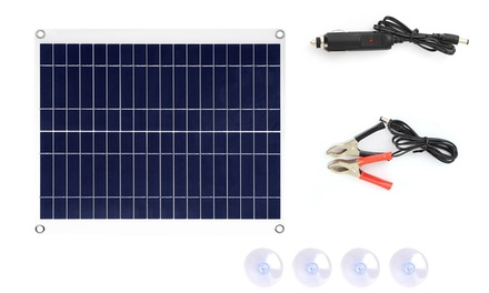 iMounTEK Portable 25W Polycrystalline 12V Car Solar Panel Kit (7-Piece)
