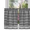 "Plaid Kitchen Curtain Tier Pair- 36""x57"""