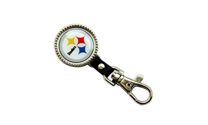 Pittsburgh Steelers Purse keychain ID clip Holder NFL  a2addf7f0
