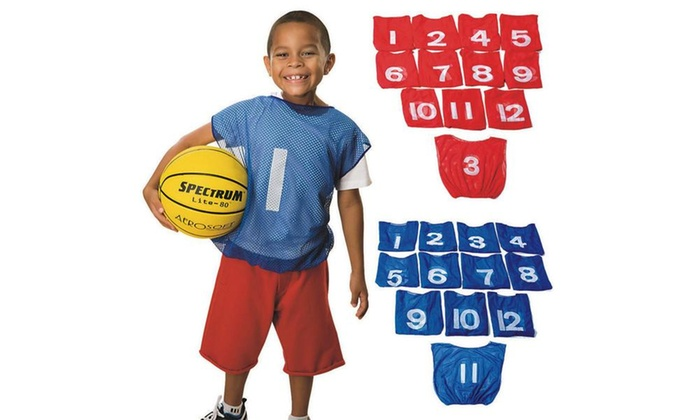 Spectrum™ Youth Numbered Mesh Pinnies (dozen)