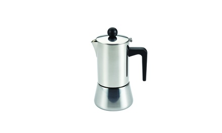 BonJour Coffee & Tea Stainless Steel 4-Cup Stovetop Espresso Maker Groupon