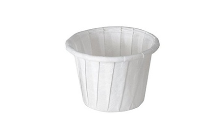 Solo 075-2050 CPC 1 oz Treated Paper Pleated Souffle Portion Cup feb7c6cd-4fca-4cef-b5ad-1f003a3d6aa8