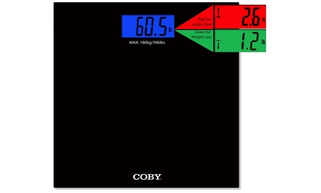 COBY Weight Comparison Digital Bathroom Scale
